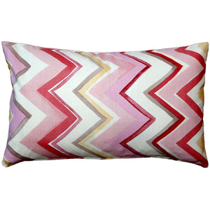 Pacifico Stripes Pink Throw Pillow 12X20