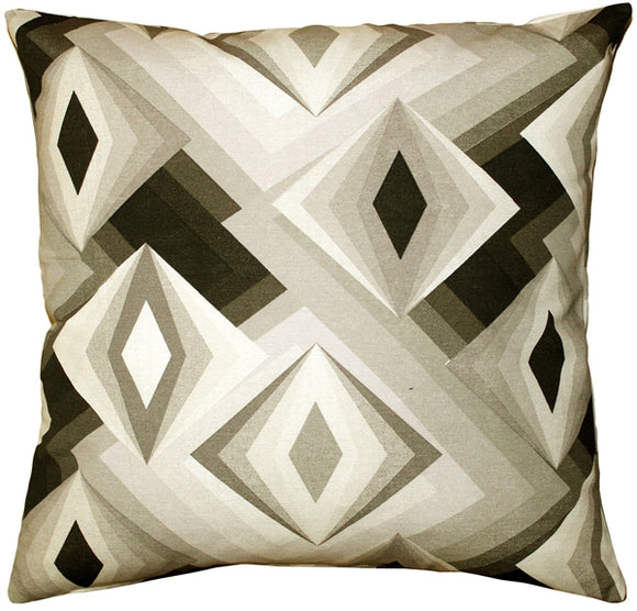 Asscher Cut Throw Pillow 17x17