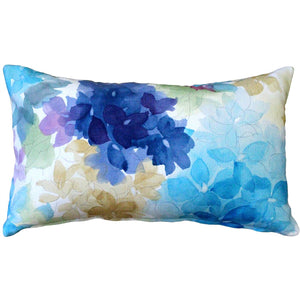 May Flower Blue Throw Pillow 12X20