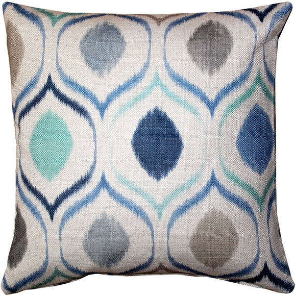 Blue Iris Throw Pillow 20X20