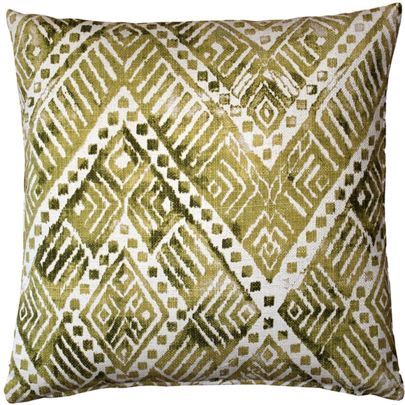 Tangga Green Throw Pillow 20X20