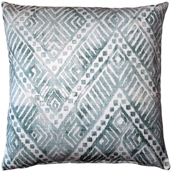 Tangga Blue Throw Pillow 20X20