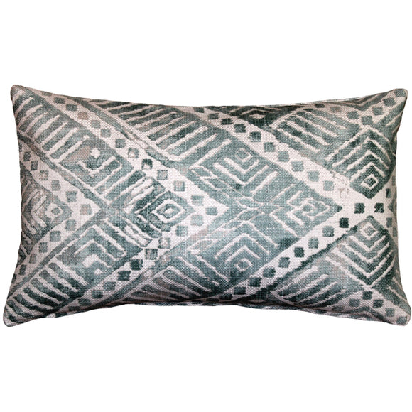Tangga Blue Throw Pillow 12X20