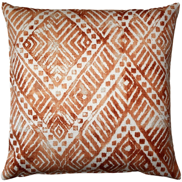 Tangga Orange Throw Pillow 20X20