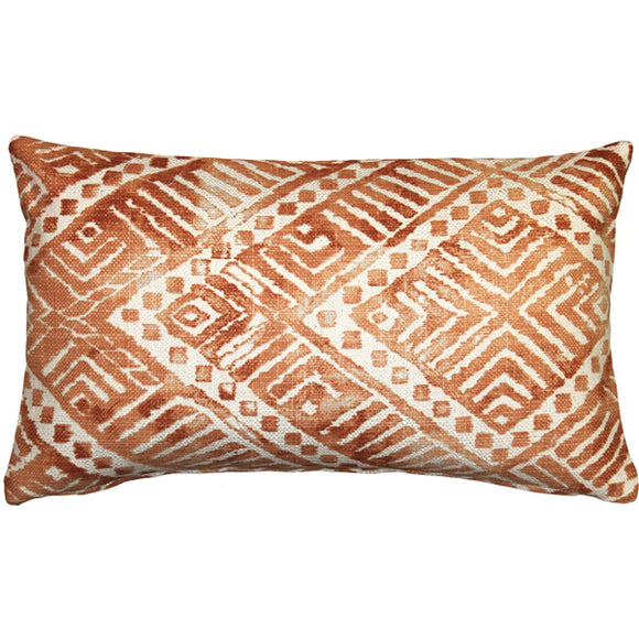 Tangga Orange Throw Pillow 12X20