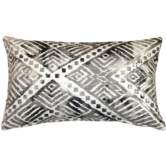 Tangga Gray Throw Pillow 12X20