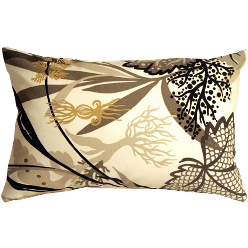 Waverly Fishbowl Caviar 12x19 Outdoor Pillow