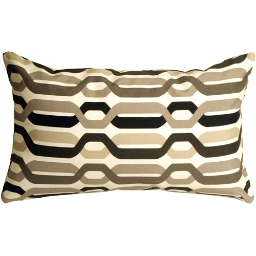 Waverly New Twist Caviar 12x20 Outdoor Pillow