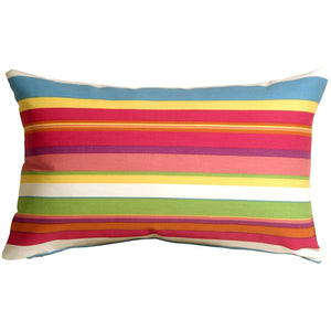 Waverly Sidewalk Stripe Cancun 12x20 Outdoor Pillow