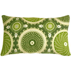 Bohemian Medallion Jade 12x20 Throw Pillow