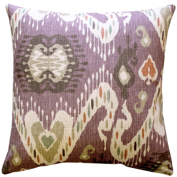 Solo Mulberry Ikat Throw Pillow 20x20