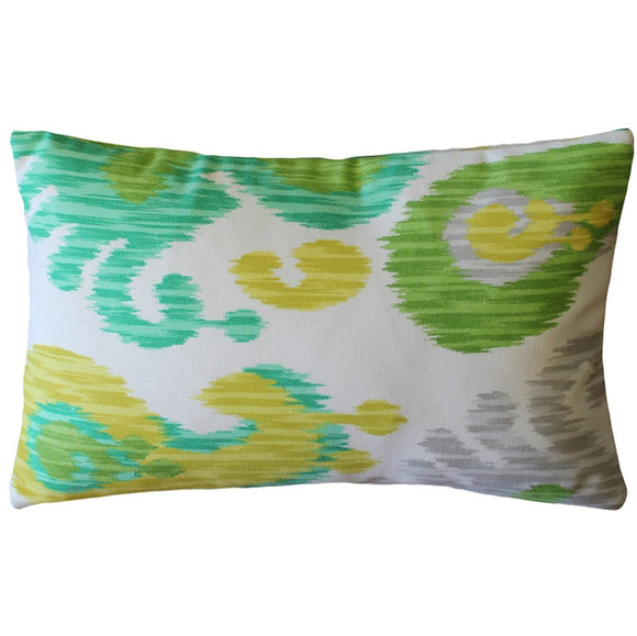 Ikat Journey Outdoor Throw Pillow 12x20