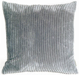 Wide Wale Corduroy 22x22 Dark Gray Throw Pillow