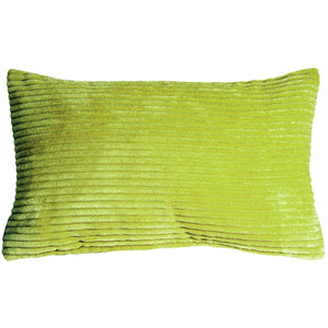 Wide Wale Corduroy 12x20 Green Throw Pillow