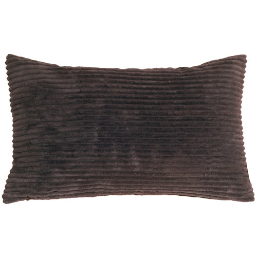 Wide Wale Corduroy 12x20 Dark Brown Throw Pillow