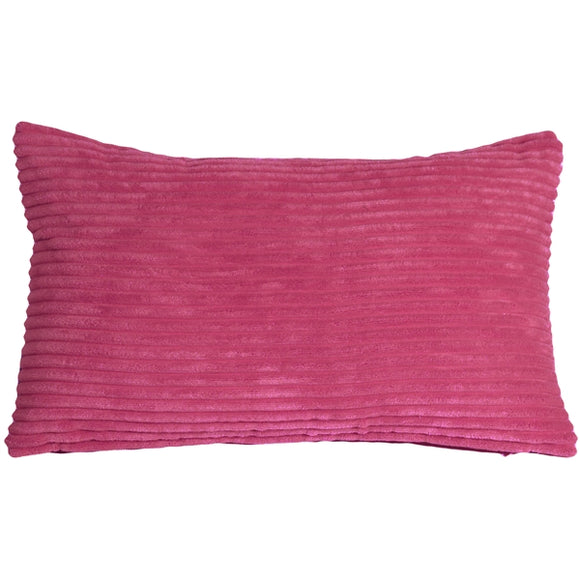 Wide Wale Corduroy 12x20 Magenta Pink Throw Pillow