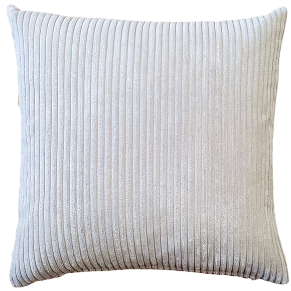 Wide Wale Corduroy 18x18 Oyster Throw Pillow