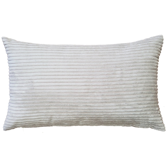 Wide Wale Corduroy 12x20 Oyster Throw Pillow