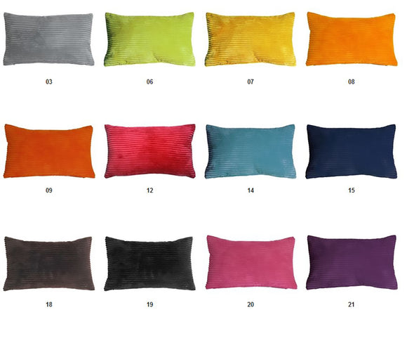 Wide Wale Corduroy 12x20 Lumbar Throw Pillow