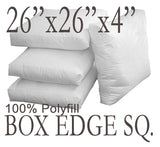 "Box Edge 26""x26""x4"" Box Edge Polyfill Pillow Insert"