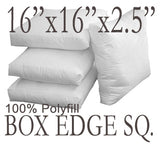 "Box Edge 16""x16""x2.5"" Polyfill Pillow Insert"