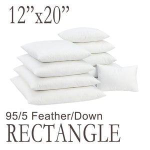 Rectangular Feather Down Pillow Form