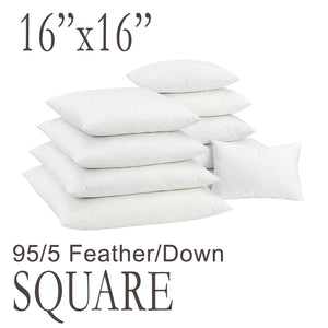 Square Feather Down Pillow Form