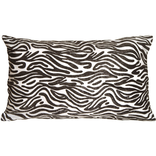 Zebra Stripes 12x20 Faux Fur Throw Pillow