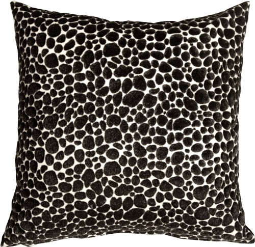 Pony Spots Black and White 18x18 Throw Pillow