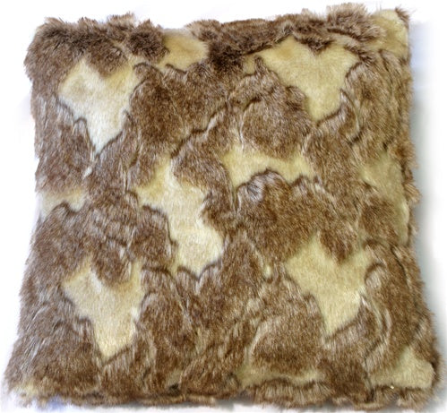 Variegated Faux Fur 20x20 Throw Pillow