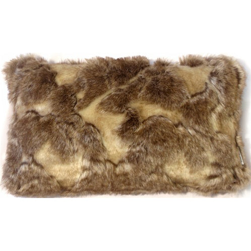 Variegated Faux Fur 12x20 Throw Pillow