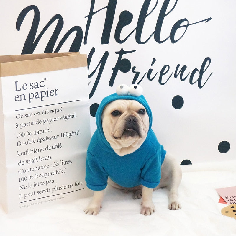 French Cartoon - Style Dog Hoodie - Mr Dogy - Fashion Shop