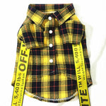Off-White Special Event Superstar Button up Plaid Shirt