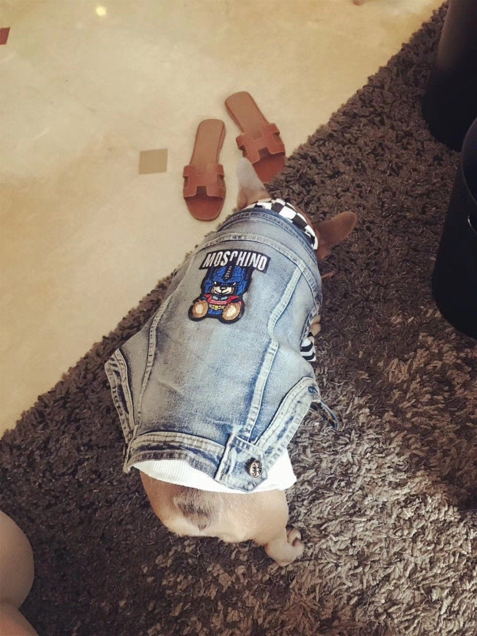 Moschino Denim Drip jacket for Fall 2019