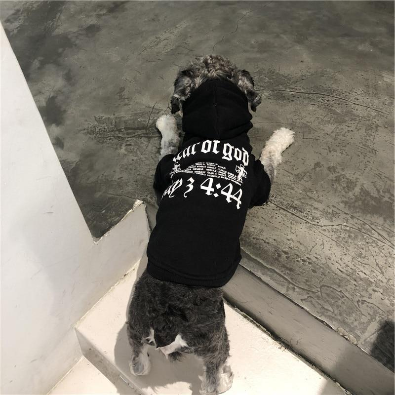 God Fearing Olde English Black Street Dog Hoodie