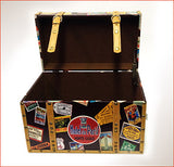 Travel Themed-Trunk - Around the world.  Brown