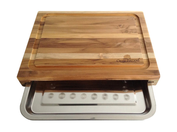 Cutting Board with Aluminum Tray