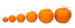 Ceramic Fruit - Tangerine Apples With Silver Stem