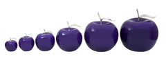 Ceramic Fruit - Violet  Apples With Silver Stem