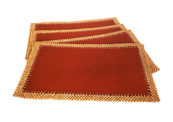 Leather Placemats  -  Set/4 - Petunia