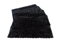 Beads Placemats - Set/4 - Black Tears