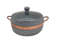 Soapstone  Cookware Pots with Glass Lid