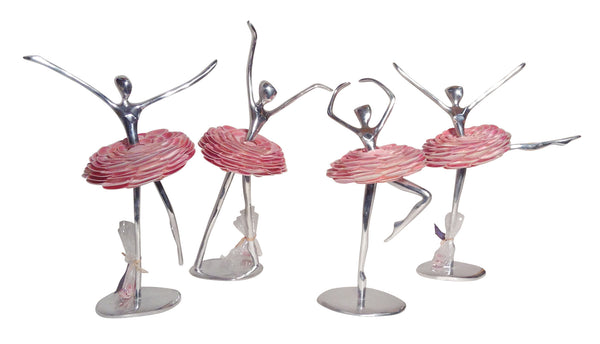 Ballerinas  -   Recycled Aluminum with Shell Tutus