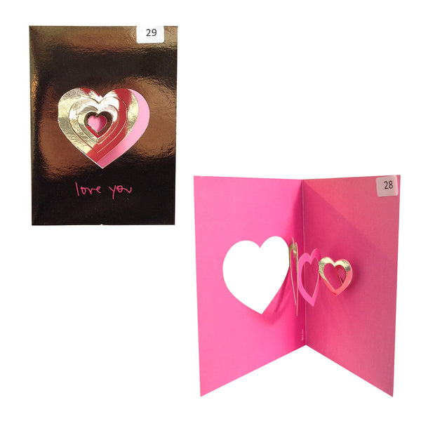 Love You - Origami Greeting Cards Christmas