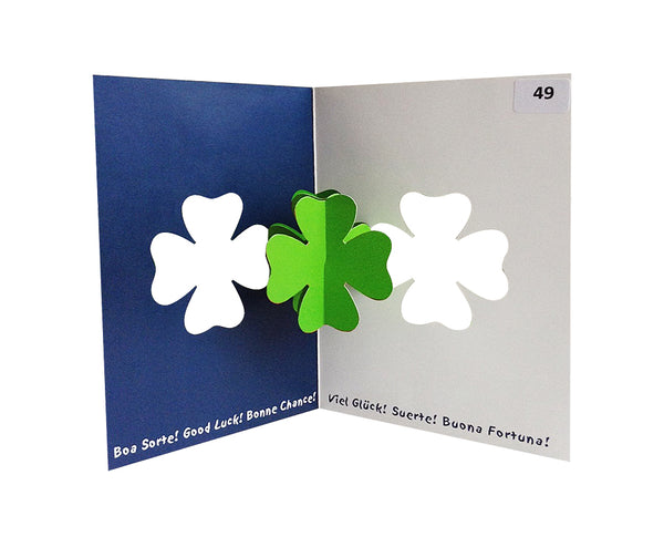 Four Leaf Clover - Origami Greeting Cards
