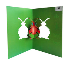 Beetle - Origami Greeting Cards