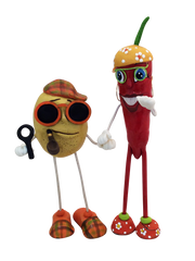 GURIS Funky and Fun Characters   RA129 - Mr. Potato &   Mrs. Hot Mama Pepper
