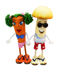 GURIS Funky and Fun Characters   RA130 - Miss Carrot & Mushroom Boy