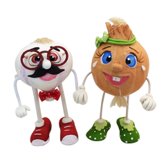 GURIS Funky and Fun Characters   RA131- Mr. Garlic & Mrs. Onion