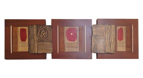 Wooden Triptych - Flor
